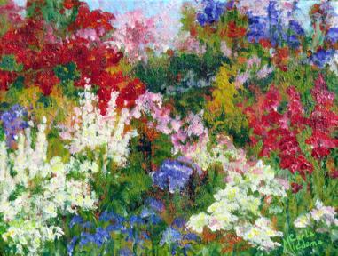 Painting Flower Garden,